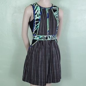 BCBG Sleeveless Keyhole Dress w/ Pockets
